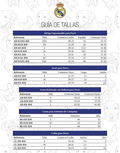 Real Madrid AR-01S-RM Arnés para Perro, Talla S: Amazon.es ...