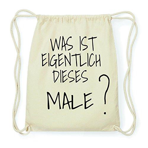 JOllify MALE Hipster Turnbeutel Tasche Rucksack aus Baumwolle - Farbe: natur Design: Was ist eigentlich f0DYn