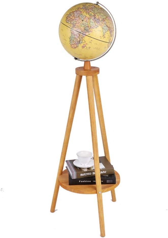 地球儀 LED照光世界グローブホームオフィス学校のインテリアスタンド詳細な世界地図教育ギフトラック (色 : 黄, サイズ : ワンサイズ)