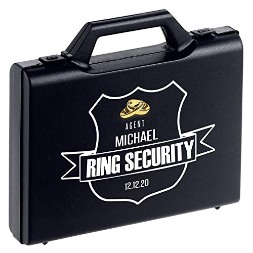 Personalized Ring Security Case - Ring Bearer Case Box - Agent - Wedding - Pillow Alternative -
