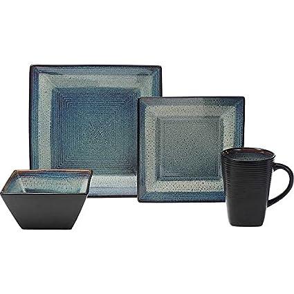 Oneida Adriatic 32-piece Service for 8 Stoneware Dinnerware Set  sc 1 st  Amazon.com & Amazon.com | Oneida Adriatic 32-piece Service for 8 Stoneware ...