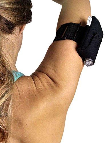 Athletic Insulin Pump Case with Strap for t:flex (L Arm, Black)