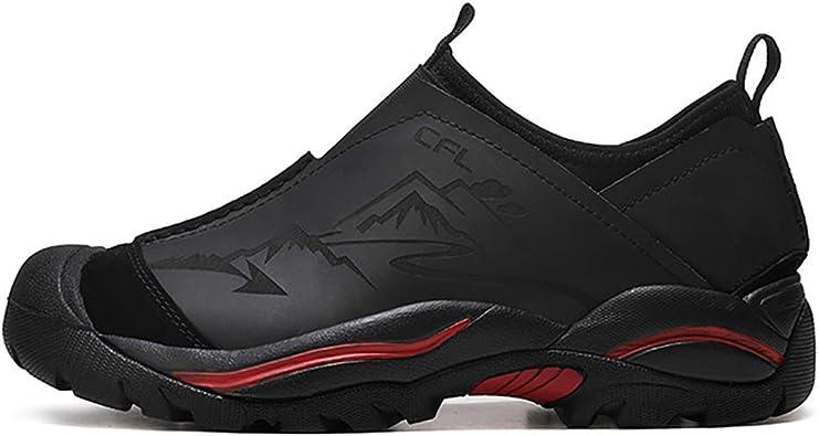 Zapatillas De Montaña De Trekking Impermeables Profesionales Zapatillas De Senderismo para Hombres De Caza Al Aire Libre Zapatillas De Deporte De Escalada De Cuero Genuino para Hombre: Amazon.es: Zapatos y complementos