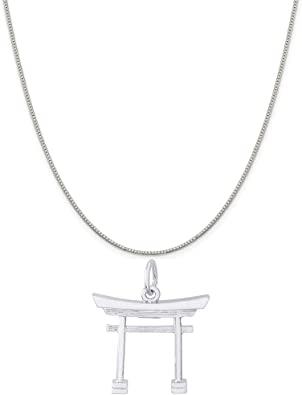 Rembrandt Charms Sterling Silver Heart and Key Charm on a 16 Box or Curb Chain Necklace 18 or 20 inch Rope