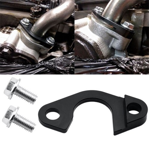 Simply Silver - New LS Oil Pump Pickup Girdle Bracket Tube Pipe Hold Down Brace Support LS Series -