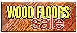 36''x96'' WOOD FLOORS SALE BANNER SIGN flooring store signs carpet tile install