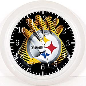 """Steelers Wall Clock 10"""" Will Be Nice Gift and Room Wall Decor F07 by Rusch"""