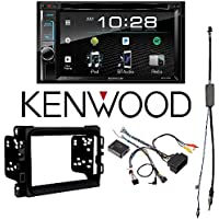 Kenwood eXcelon DDX395 6.2 In-Dash Double Din CD/DVD/MP3 Receiver, Dual Camera Inputs, SiriusXM Ready 2013 - 2017 RAM DOUBLE DIN CAR STEREO INSTALLATION DASH KIT +HARNESS +ANTENNA