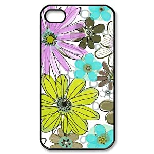 Vintage Flower ZLB544471 Custom Case for Iphone 4,4S, Iphone 4,4S Case