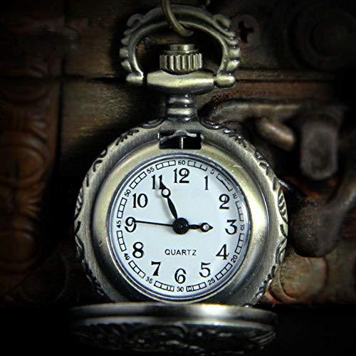 Hot sale Antique Charm Silver Hollow Quartz Pocket Watch Pendants Necklace - Classic Metal Drumsticks