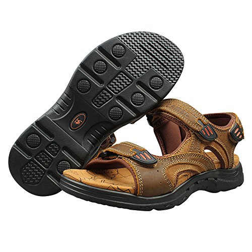 Genda 2archer Mens Casual Sandali Da Spiaggia Open-toe Sandali A Punta Aperta Color Kaki