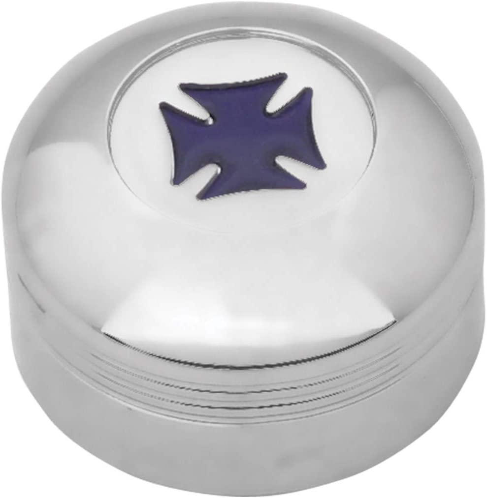 GG Grand General 66971 Chrome Plastic A//C Knob w//Blue Iron Cross for Kenworth 2002 Up