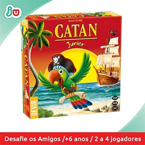 Devir- Catan Junior, Juego de Mesa, en Castellano, catalán y portugués (BGCATJU): Amazon.es: Juguetes y juegos