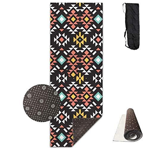 SOADV Yoga Mat,Aztec Tribal Ethnic Colorful - for Yoga, Pila