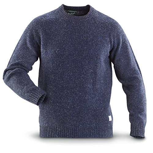 Woolrich Kennebeck Shetland Crew Neck Sweater, DK CHARC HTHR, XL
