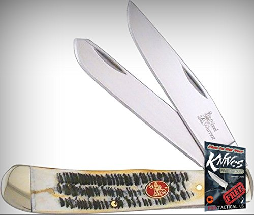 Frost SW108BR Trapper Butter Rum Mirror Folding Limited Elite Knife 2 Blades Folder + free eBook by ProTactical
