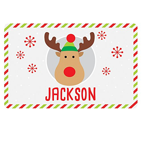 Personalized Christmas Placemats (GiftsForYouNow Holiday Character Personalized Placemat, Reindeer)