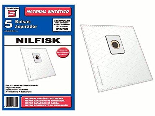 Synthetic Vacuum cleaner bag Nilfisk Elite Pack of 5 915759 ...