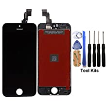 CELLPHONEAGE® For iPhone 5C Nwe LCD Touch Screen Replacement With Frame Digitizer Assembly Display Black With Free Repair Tool Kits