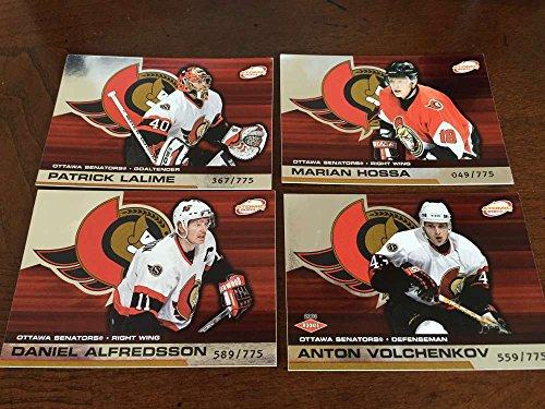 2002-03 Pacific Atomic Hobby Ottawa Senators Team Set Rare 4 Cards Marian Hossa ()