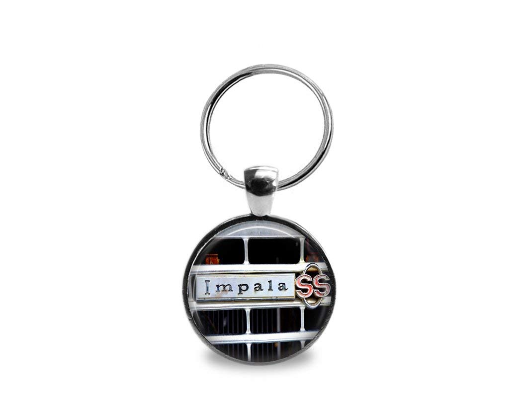 Vintage Chevy Impala SS Emblem Key Chain