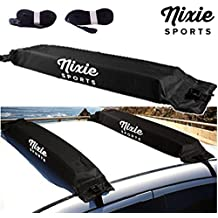 """Universal Soft Roof Rack by Nixie Sports - 34"""" Wide for Kayaks, Canoes, Surf Boards & Stand Up Paddle Board"""