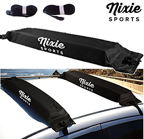 Universal Soft Roof Rack by Nixie Sports - 34' Wide for Kayaks, Canoes, Surf Boards & Stand Up Paddle Board