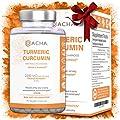 DACHA Nutrition Turmeric Curcumin Supplements - 2250mg Arthritis Joint Support with Black Pepper Bioperine Ginger 95% Curcuminoids Anti Inflammatory Capsules Antioxidant Back Pain Relief Tumeric Boost