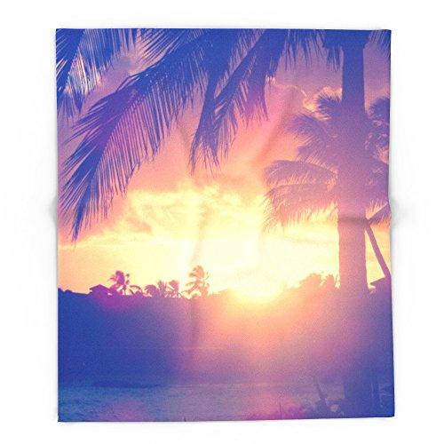 Society6 Hawaii Sunset Palm Tree 88'' x 104'' Blanket by Society6