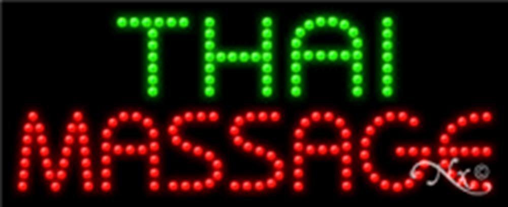 11x27x1 inches Thai Massage Animated Flashing LED Window Sign