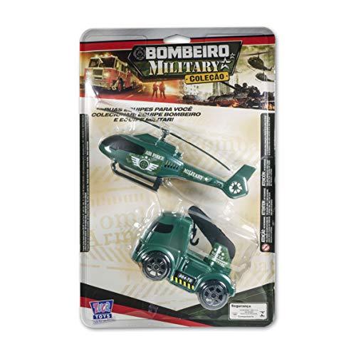 Dupla Militar (guincho + Helicóptero) Zucatoys Verde