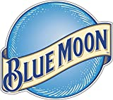 wall decals beer - U$TORE Vinyl Sticker Blue Moon Logo Decorative Decal for Wall Windows Truck Car Bumpers Laptop Beer Contour Cut Water Resistant - 9