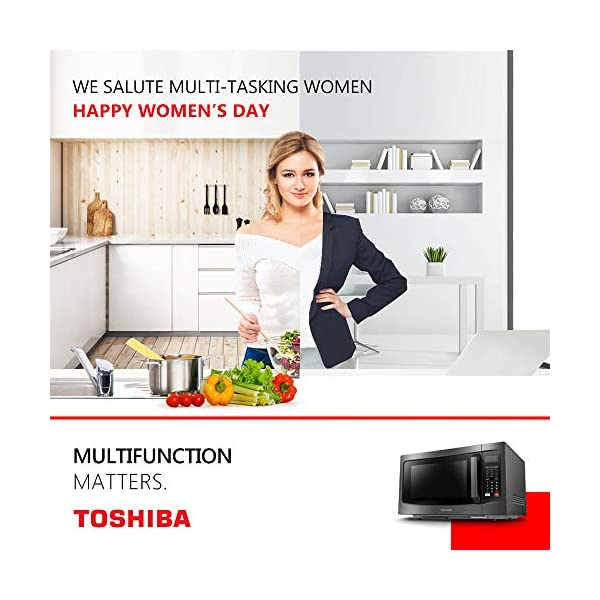 Toshiba EC042A5C-BS Countertop Microwave Oven with Convection, Smart Sensor, Sound On/Off Function and LCD Display, 1… 5