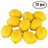 Amison Fake Fruit Lemon, Home House Kitchen Party Decoration Artificial Lifelike Simulation Yellow Lemon 10pcs Set (10pcs)