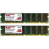 KOMPUTERBAY 1GB (2x 512MB) PC133 SDRAM 133MHz 168 pin 3.3v NON ECC DIMM DESKTOP MEMORY- 100% Compatible