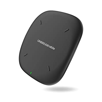 UNBREAKcable Cargador inalámbrico-Certificación Qi, Pad de Carga inalámbrica Compatible con iPhone XS MAX/XR/XS/X, Galaxy S10/S9/S9+/S8 – Black ...