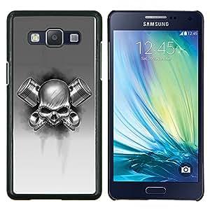 EJOOY---Cubierta de la caja de protección para la piel dura ** Samsung Galaxy A5 A5000 ** --gas cráneo metal blanco negro roca de la muerte