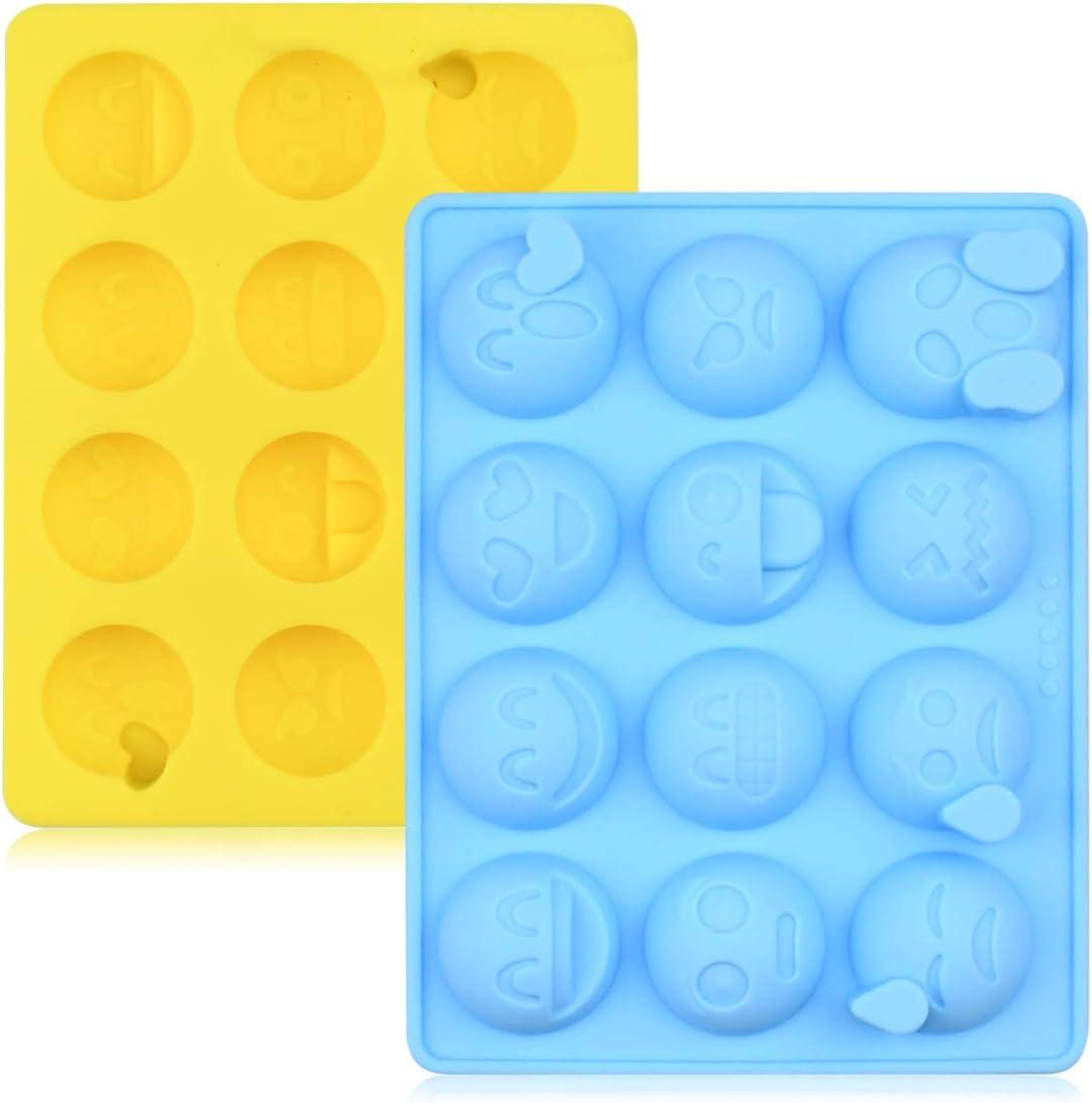 Lot de 2 moules en silicone en forme d/émotic/ône pour faire des bonbons