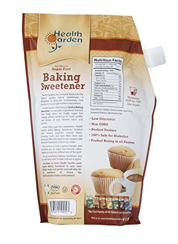 Sugar Free Xylitol Baking Sweetener, All Natural, Non GMO Sugar Replacement - 35 oz. - By Health Garden by Health Garden (Image #1)'