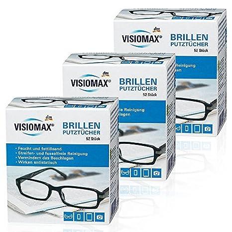 Toallitas limpiadoras para gafas, húmedas y desengrasantes para una limpieza sin rayas, 52 unidades