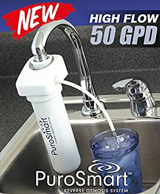 PuroSmart High Flow RO System, Faucet Mount Home Water Treatment System (Portable RO System)