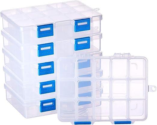 BENECREAT 6 Pack 15 Compartimientos Caja Ajustable de Plástico ...