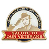 PinMart's Salute To Our Veterans Patriotic Veteran's Day Military Lapel Pin