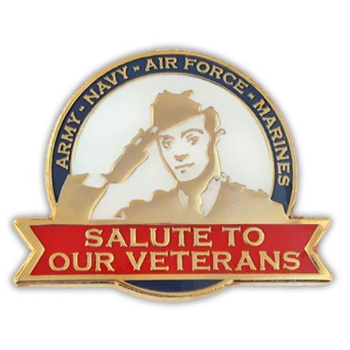 PinMart's Salute To Our Veterans Patriotic Veteran's Day Military Lapel Pin by PinMart