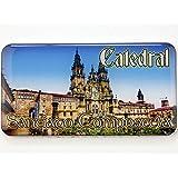 Imán de neodimio Magnet Resine Cathedrale Santiago Compostela St Jacques de Compostelle