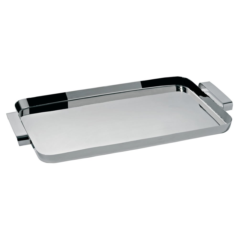 Alessi KL09''''Tau'' Tray With Handles, Silver by Alessi (Image #1)