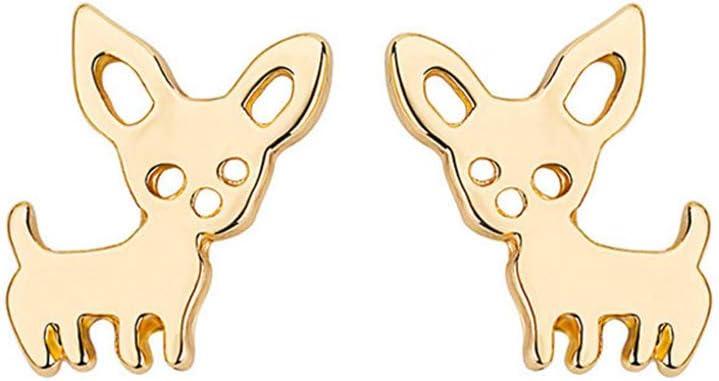 skyllc® Pernos prisioneros de oído Simples Lindos del Animal doméstico, Pendiente de la aleación del galjanoplastia de Oro, Forma Irregular Creativa, para Las Muchachas del Animal doméstico