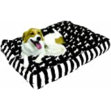 Happy Hounds Buster Small 24 by 36-Inch Dog Bed, Black/White