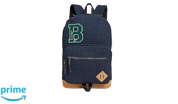 eb541be0bbb Amazon.com | Steve Madden Mens Flannel Plaid School Backpack Navy O/S |  Backpacks