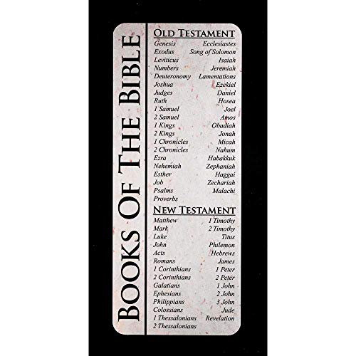(Books of The Bible Full List Speckled Cream Cardstock Bookmarks, Pack of 12)
